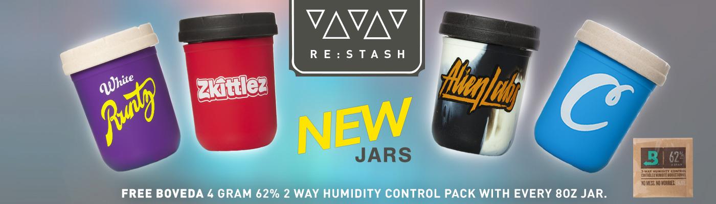 Re:Stash Child Proof Mason Storage Jars