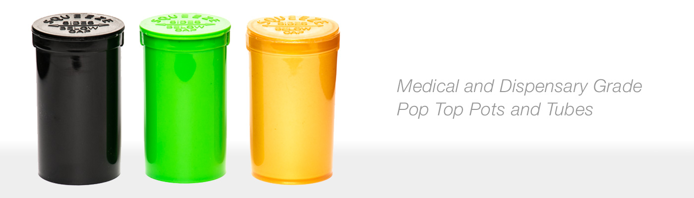 Pop Top Medical Containers