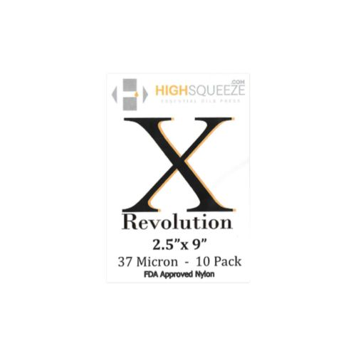 "Professional 2.5"" x 9"" (X Revolution) Rosin Press Extraction Bags by High Squeeze"