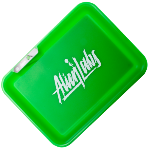 AlienLabs Green LED Rolling Tray by Glow Tray