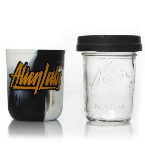 You Are Not Alone 8oz AlienLabs Mason Stash Jar by RE:STASH