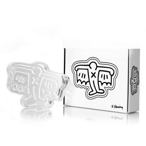 Man Bat Crystal Glass Ashtray / Catchall by Keith Haring