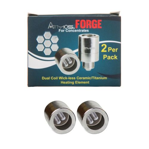 The Forge Plus Dual Coil Wick-less Ceramic Titanium Coil by Atmos (2 Pack) - Discontinued