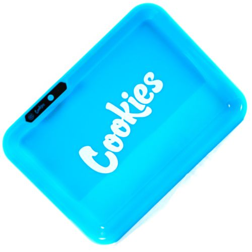 Glow Tray x Cookies (Blue) LED Rolling Tray by Glow Tray