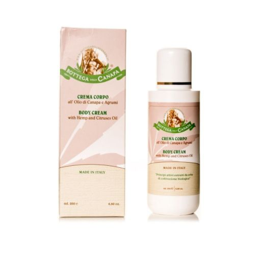 Body Cream With Citruses And Hemp Oil by Bottega Della Canapa