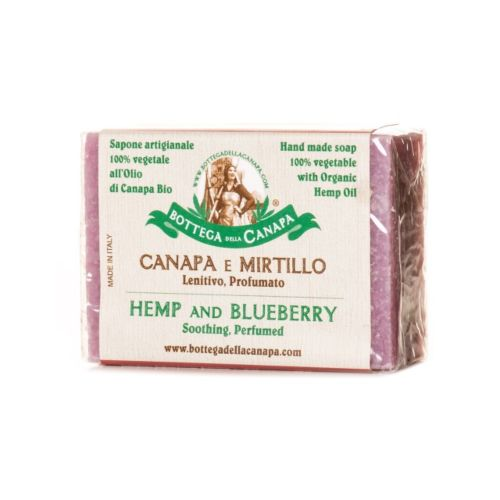 Hemp Soap With Blueberry by Bottega Della Canapa