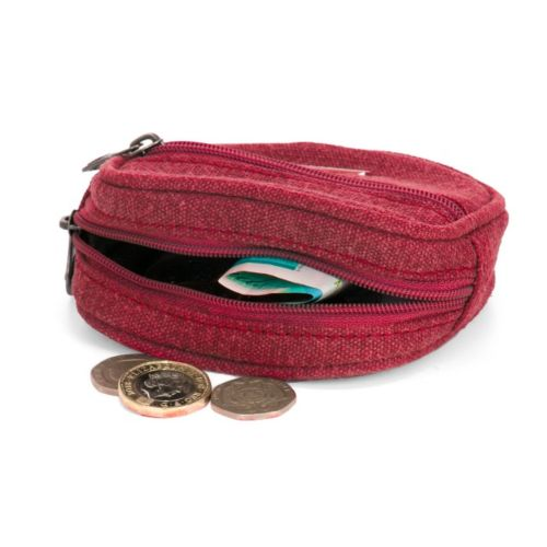 Hemp Coin Pouch by Sativa Hemp Bags