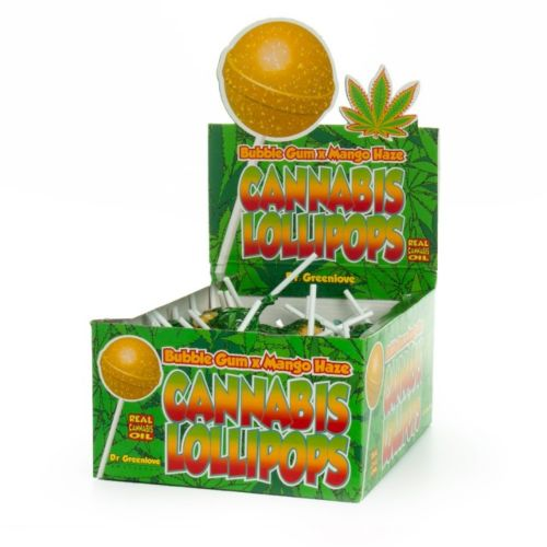 Cannabis Lollipops - Bubblegum x Mango Haze by Dr Greenlove Amsterdam