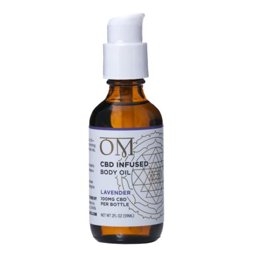 Lavender 100mg CBD Body Oil by OM Wellness