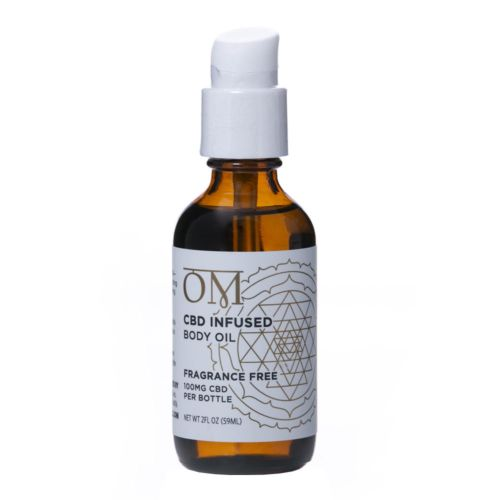 Fragrance Free 100mg CBD Body Oil by OM Wellness
