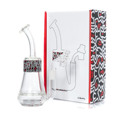 Multi Colour Glass Concentrate Rig by Keith Haring