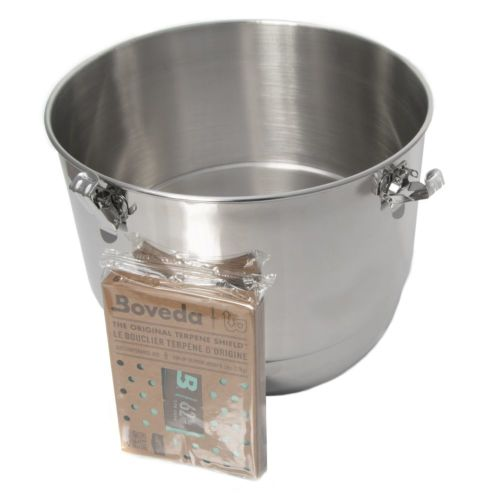 CVault Stainless Steel Holder With Boveda Humidity Pack-21 Liters