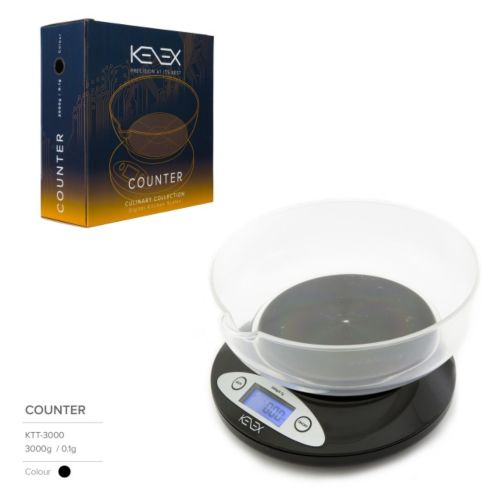 Counter Digital Kitchen Precision Scales (Culinary Collection) by Kenex