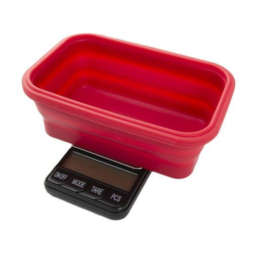 Omega Collapsible Silicone Bowl Digital Scales - (Platinum Collection) by Kenex - Black