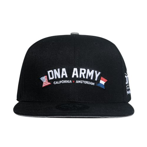 Custom 6 Panel Snapback Hat - DNA Army by DNA Genetics