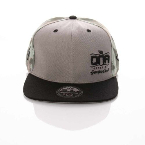 DNA Genetics 6 Panel Fitted Hat - Grey Leaf Camo