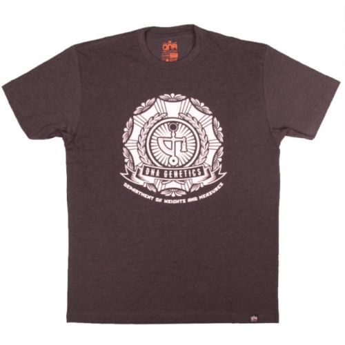 DNA Weights & Measures Tee Charcoal and White by DNA Genetics - XX Large
