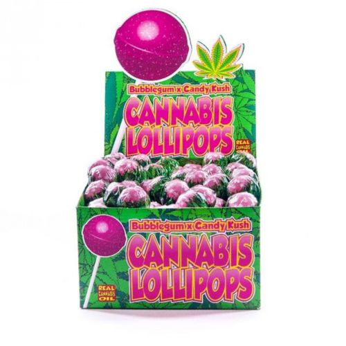 Cannabis Lollipops - Bubblegum x Candy Kush by Dr. Greenlove Amsterdam