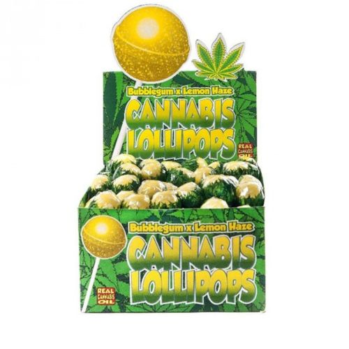 Cannabis Lollipops - Bubblegum x Lemon Haze by Dr. Greenlove Amsterdam
