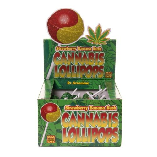 Cannabis Lollipops - Strawberry Banana Kush by Dr. Greenlove Amsterdam