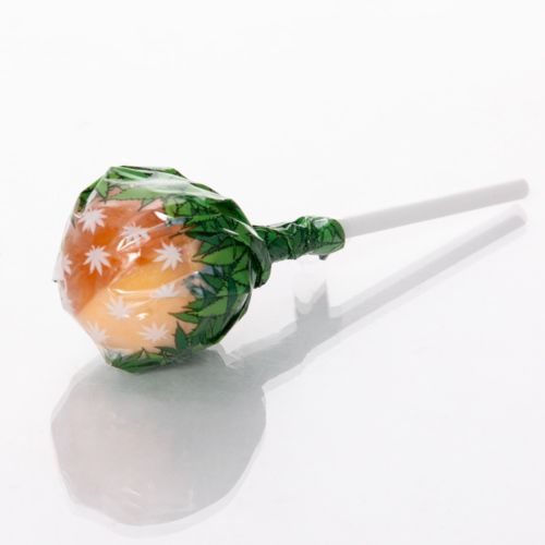 Bubble Gum x Orange Bud Cannabis lollipops by Dr. Green Love
