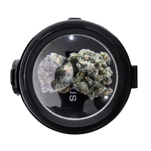 Eclipse Black Illuminated Storage Jar by Smokus Focus