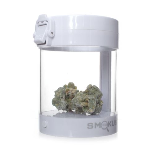 Eclipse White Illuminated Storage Jar by Smokus Focus