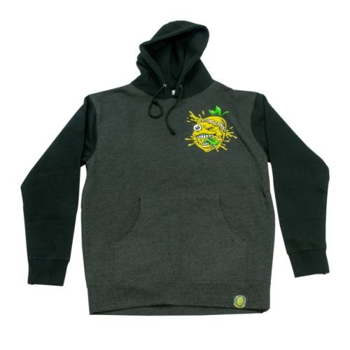 Lemon Splat Two Tone Black/Charcoal Grey Hoodie by Lemon Life SC