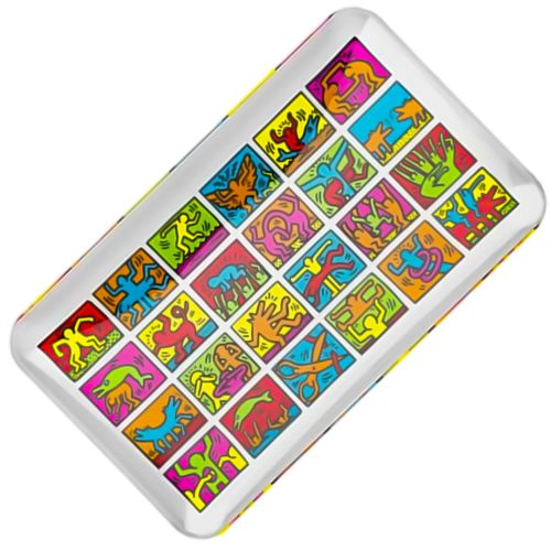 Multi Colour Glass Rolling Tray by Keith Haring