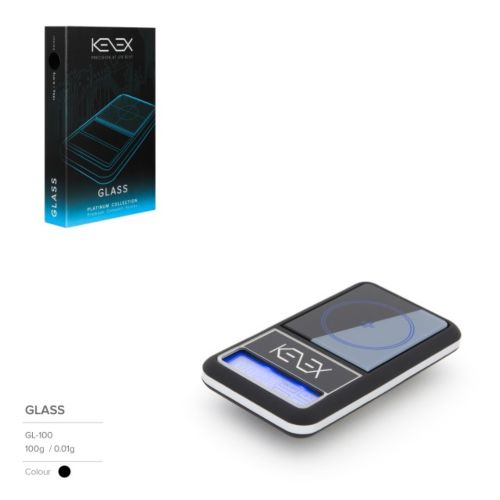 Glass Digital Precision Scales (Platinum Collection) by Kenex