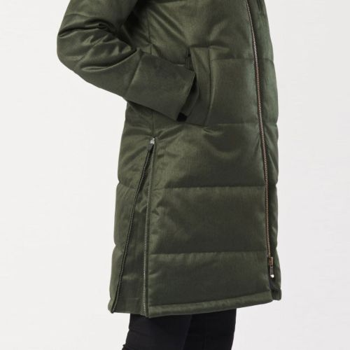 Ladies' Nordic Puffer in Deep Army Green (FW18) by Hoodlamb