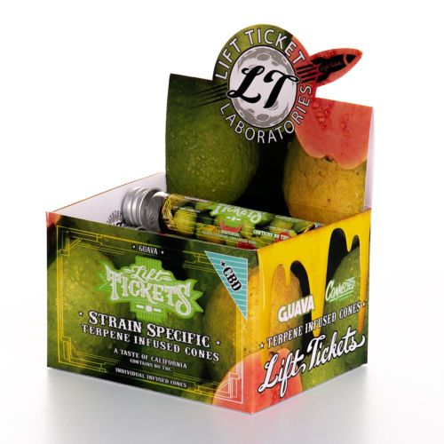 Guava Pre-Rolled Infused Terpene Cone with CBD by Lift Tickets 710