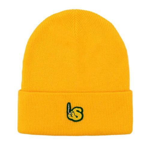 Yellow Beanie Hat by The Smoker's Club