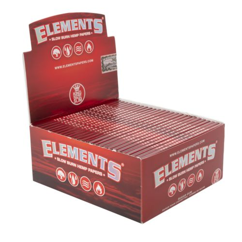 King Size Hemp Rolling Papers by Elements