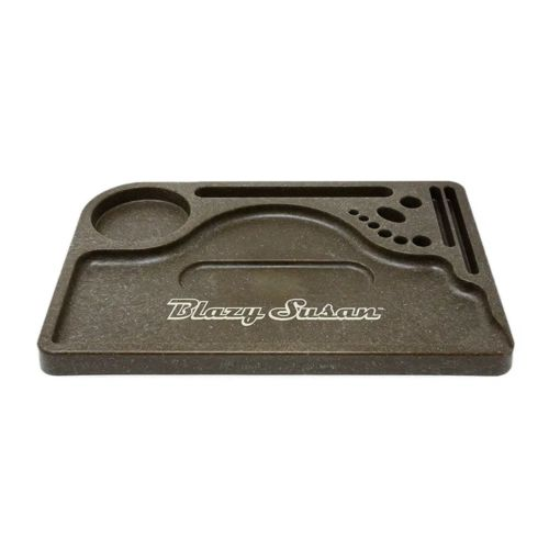 Medium Hemp Rolling Tray by Blazy Susan – Brown