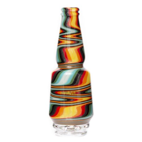 Fire Zigzag Worked Peak Glass by Idab Glass