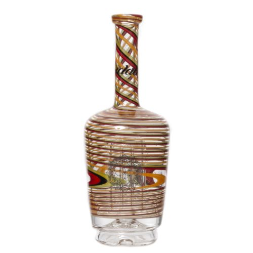Striped Rasta Custom Henny Bottle Peak Glass by Idab Glass