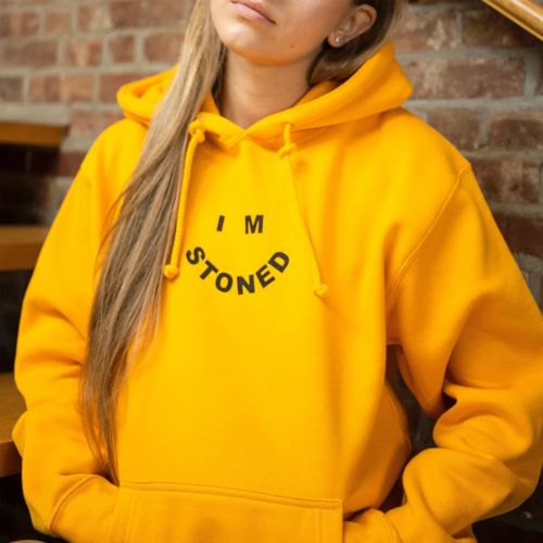 I'm Stoned Hoodie by The Smoker's Club - Yellow