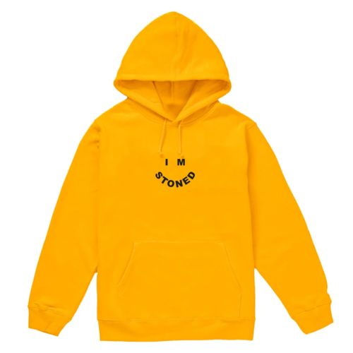 I'm Stoned Hoodie by The Smokers Club - Yellow