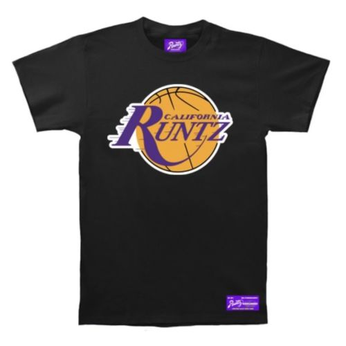 LA Basketball T-Shirt by Runtz – Black