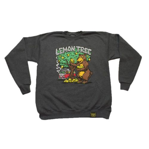 Lemon Bear Crewneck - Grey by Lemon Life SC