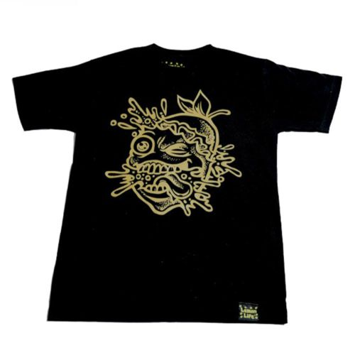The Lemon Splat Outline T-Shirt - Black by Lemon Life SC