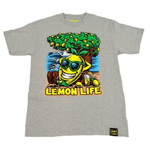 The Lemon Life Beach T-Shirt - Ash Grey by Lemon Life SC