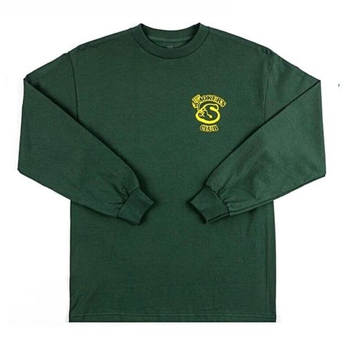 Member Long Sleeve T-Shirt by The Smokers Club - Green