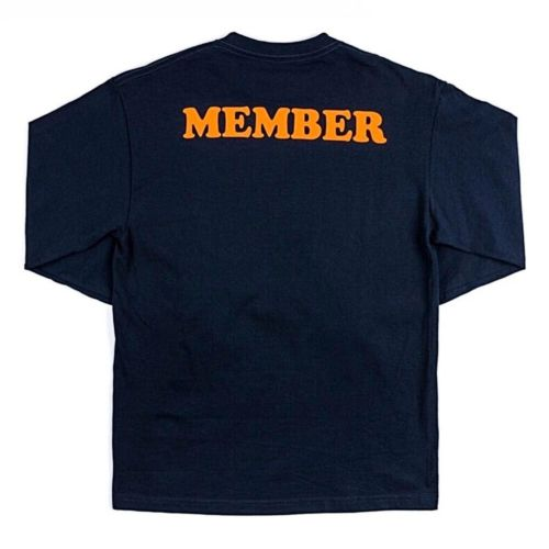 Member Long Sleeve T-Shirt by The Smokers Club - Navy