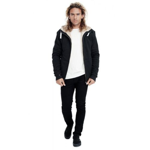 Men's Furry Hoodie (W17) by Hoodlamb - Black Small