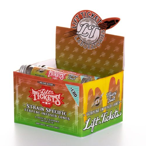 Miami Kush Pre-Rolled Infused Terpene Cone with CBD by Lift Tickets 710