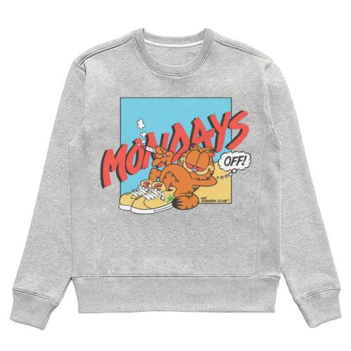 Mondays Off Crewneck Jumper by The Smoker's Club - Heather Grey