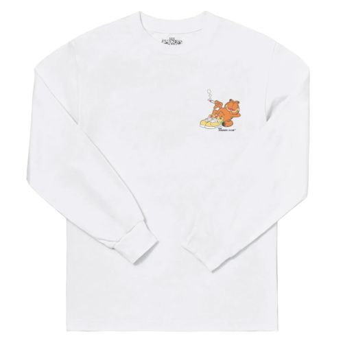 Mondays Off Long Sleeve Tee by The Smoker's Club - White