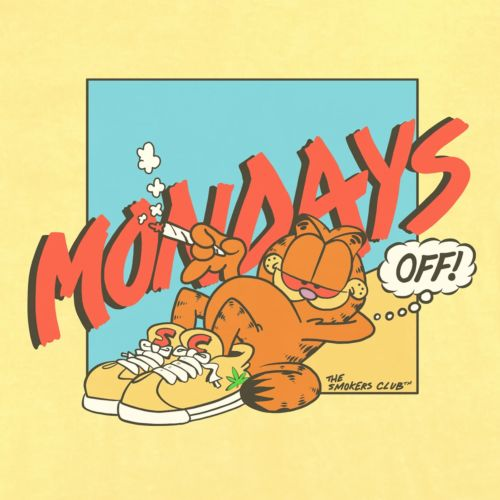 Mondays Off T-Shirt by Smokers Club - Banana